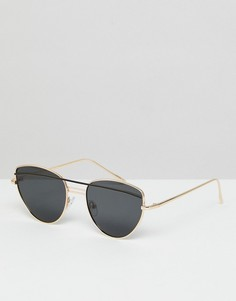 Солнцезащитные очки «кошачий глаз» с двойной переносицей ASOS - Мульти