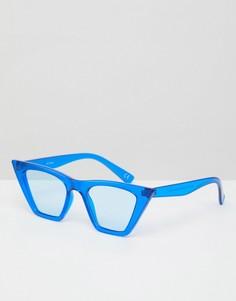 Солнцезащитные очки кошачий глаз в квадратной оправе ASOS - Синий