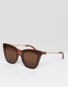 Квадратные солнцезащитные очки кошачий глаз ASOS - Коричневый