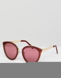 Круглые солнцезащитные очки ASOS - Красный