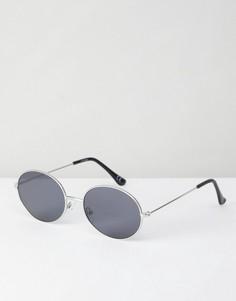 Овальные солнцезащитные очки в стиле 90-х с металлической оправой ASOS - Серебряный