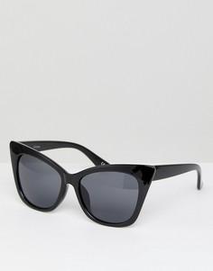 Базовые солнцезащитные очки кошачий глаз ASOS - Черный