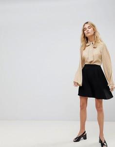 Короткая расклешенная юбка Vero Moda - Черный