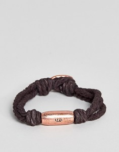 Коричневый браслет со вставкой цвета розового золота Classics 77 Sagres - Серый