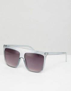 Светло-серые квадратные солнцезащитные очки ASOS - Серый