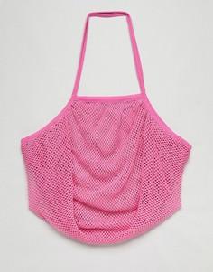 Сумка-шоппер из веревки ASOS BEACH - Розовый