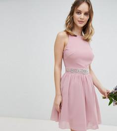 Платье миди с пышной юбкой TFNC Petite - Розовый
