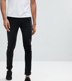 Черные джинсы с напылением ASOS TALL - Черный