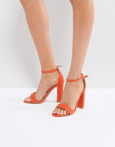Оранжевые босоножки на блочном каблуке Glamorous Barely There - Оранжевый