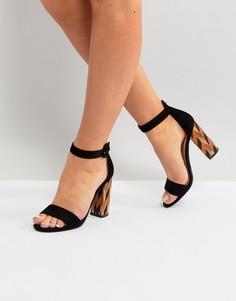 Черные босоножки на блочном каблуке Glamorous - Черный
