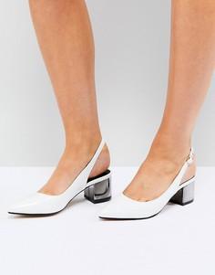 Туфли на среднем каблуке с ремешком через пятку Truffle Collection - Серебряный