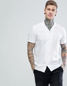 Белая рубашка классического кроя из вискозы ASOS - Белый