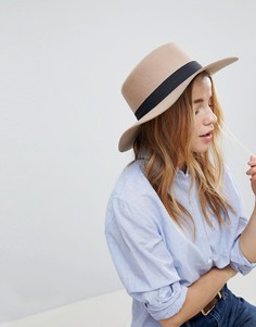 Фетровая шляпа регулируемого размера ASOS - Коричневый