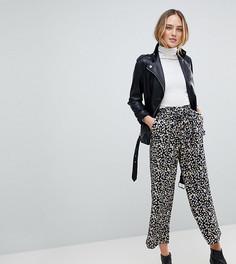 Широкие брюки с цветочным принтом Y.A.S Tall Sunia - Коричневый
