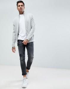 Серая меланжевая спортивная куртка ASOS - Серый