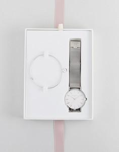 Часы 38 мм и браслет в подарочном наборе Rosefield Mercer - Серебряный