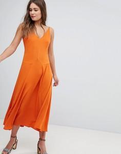 Платье макси с V-образным вырезом Boohoo - Синий