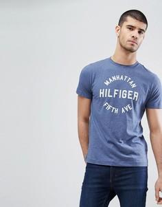 Меланжевая футболка Tommy Hilfiger Owen Manhattan - Синий