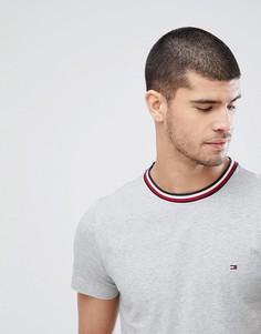 Серая меланжевая футболка с полосами Tommy Hilfiger Felix - Серый
