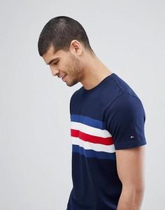 Темно-синяя футболка с полосами на груди Tommy Hilfiger Lars - Синий