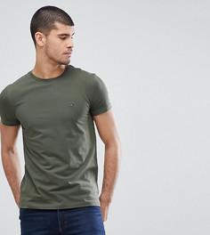 Зауженная футболка оливкового цвета Tommy Hilfiger эксклюзивно для ASOS - Зеленый