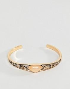 Браслет с камнем ASOS - Золотой