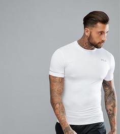 Белая компрессионная футболка со светоотражающим логотипом Fila Vintage Sport - Белый
