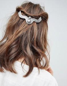 Серебристая заколка для волос ASOS - Серебряный