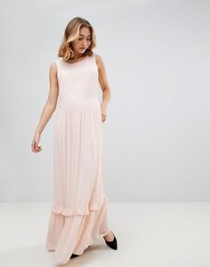 Платье макси без рукавов Selected - Розовый