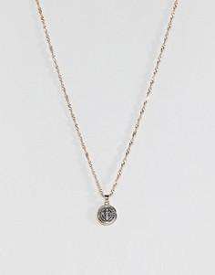 Ожерелье с подвеской в виде монеты ASOS - Мульти