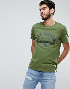 Футболка цвета хаки с логотипом Levis - Зеленый Levis®