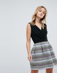 Короткое приталенное платье Oeuvre - Черный
