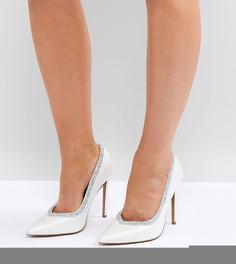 Туфли на высоком каблуке для широкой стопы ASOS PHOENIX - Кремовый