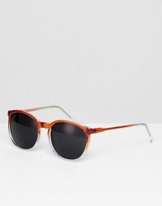 Круглые солнцезащитные очки в коричневой оправе Reclaimed Vintage - Коричневый