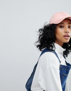 Эксклюзивная розовая кепка с надписью NY в тон New Era 9Forty - Розовый
