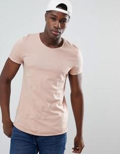 Длинная розовая футболка Esprit - Розовый