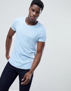Длинная голубая футболка Esprit - Синий
