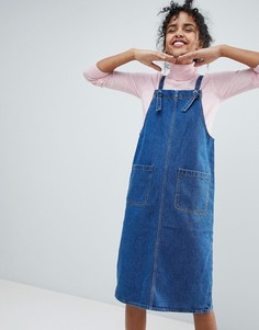 Джинсовое платье-сарафан Monki - Синий