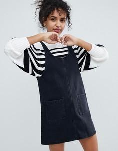 Джинсовое платье-сарафан Monki - Черный