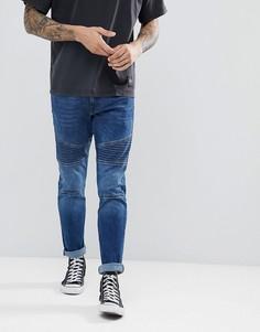 Байкерские джинсы скинни Esprit - Синий