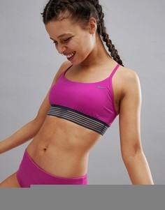 Спортивный топ для плавания с перекрестными бретелями на спине Nike - Розовый