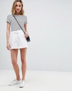 Льняные шорты с D-образным кольцом ASOS Tailored - Белый