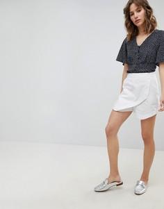 Льняная юбка-шорты ASOS Tailored - Белый