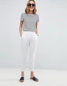 Льняные брюки-сигареты ASOS Tailored - Белый