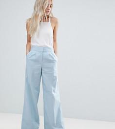 Широкие льняные брюки ASOS PETITE - Синий