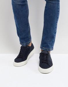 Темно-синие замшевые кроссовки Tommy Hilfiger Dino - Темно-синий