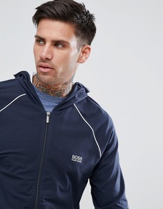 Куртка с капюшоном на молнии BOSS By Hugo Boss - Темно-синий