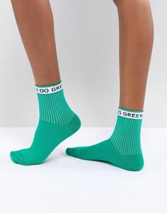 Носки ASOS Go Green - Зеленый
