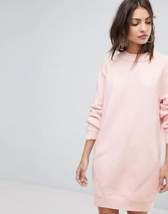 Трикотажное платье Y.A.S - Розовый