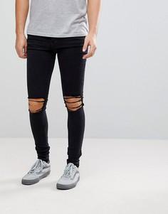 Черные джинсы скинни Dr Denim Leroy - Черный